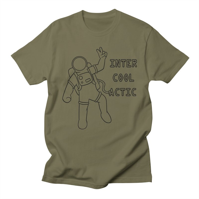 Inter-Cool-Actic - Black - Text Men's Regular T-Shirt by Rachel Yelding | enchantedviolin