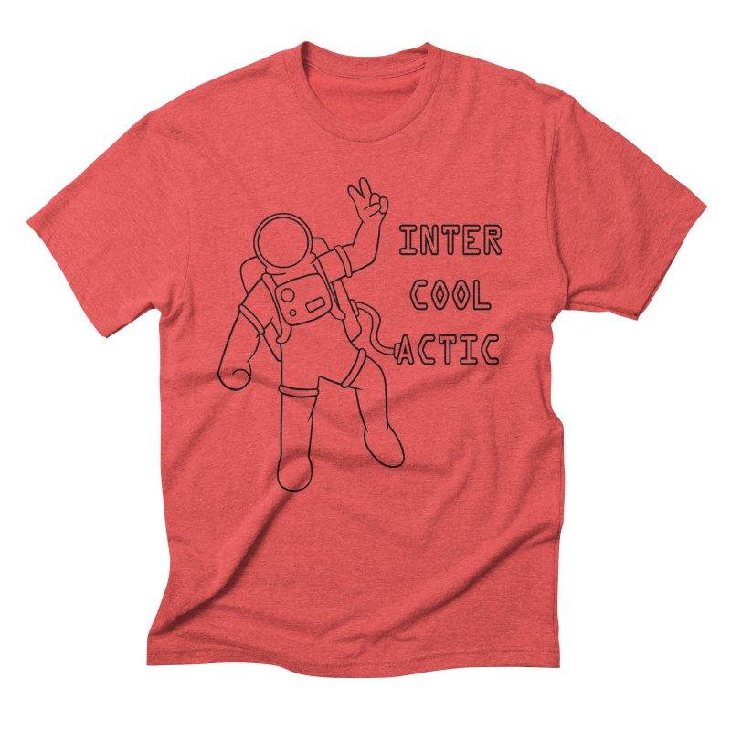 Inter-Cool-Actic - Black - Text Men's Triblend T-Shirt by Rachel Yelding | enchantedviolin