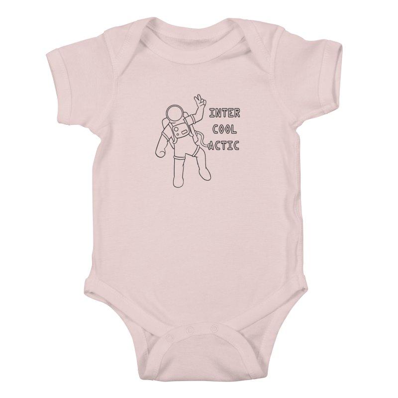 Inter-Cool-Actic - Black - Text Kids Baby Bodysuit by Rachel Yelding | enchantedviolin