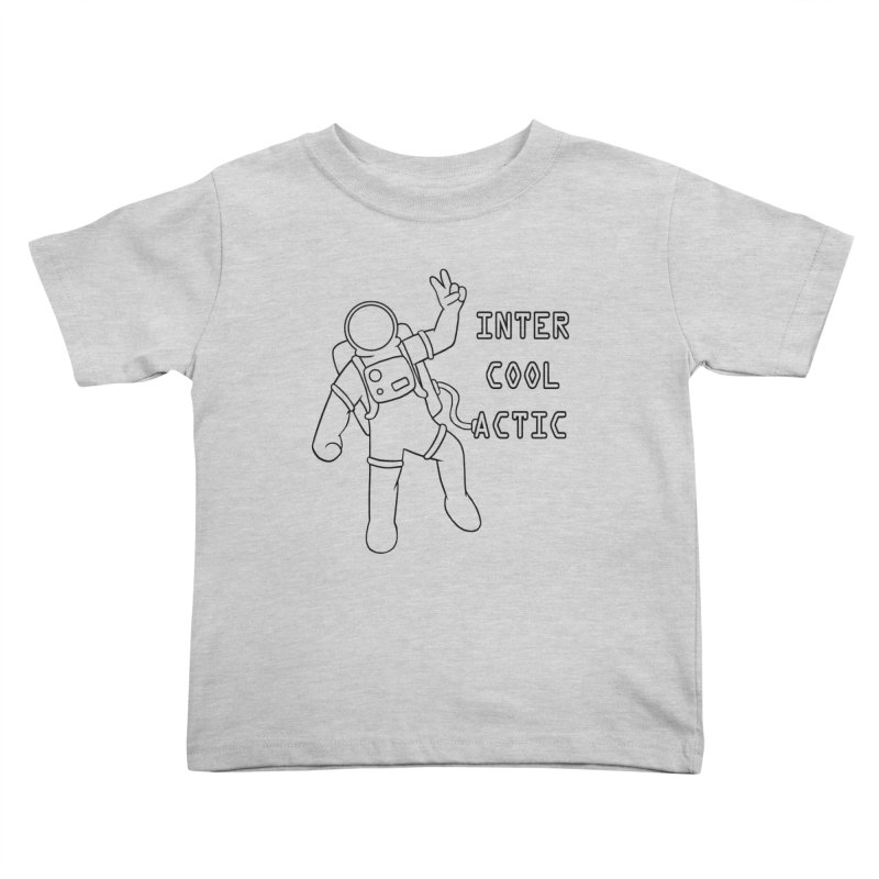 Inter-Cool-Actic - Black - Text Kids Toddler T-Shirt by Rachel Yelding | enchantedviolin