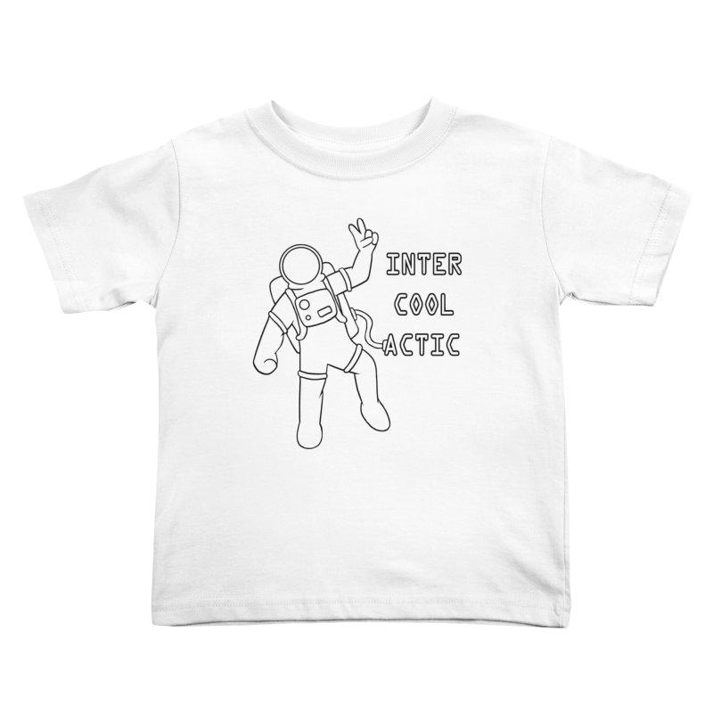 Inter-Cool-Actic - Black - Text Kids Toddler T-Shirt by Rachel Yelding | enchantedviolin