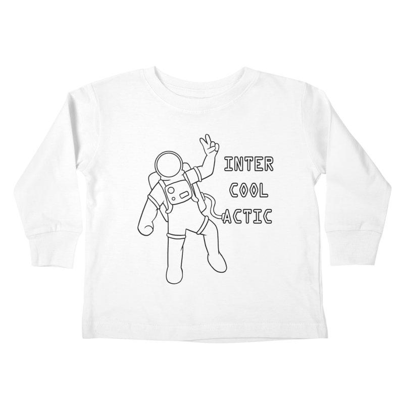Inter-Cool-Actic - Black - Text Kids Toddler Longsleeve T-Shirt by Rachel Yelding | enchantedviolin