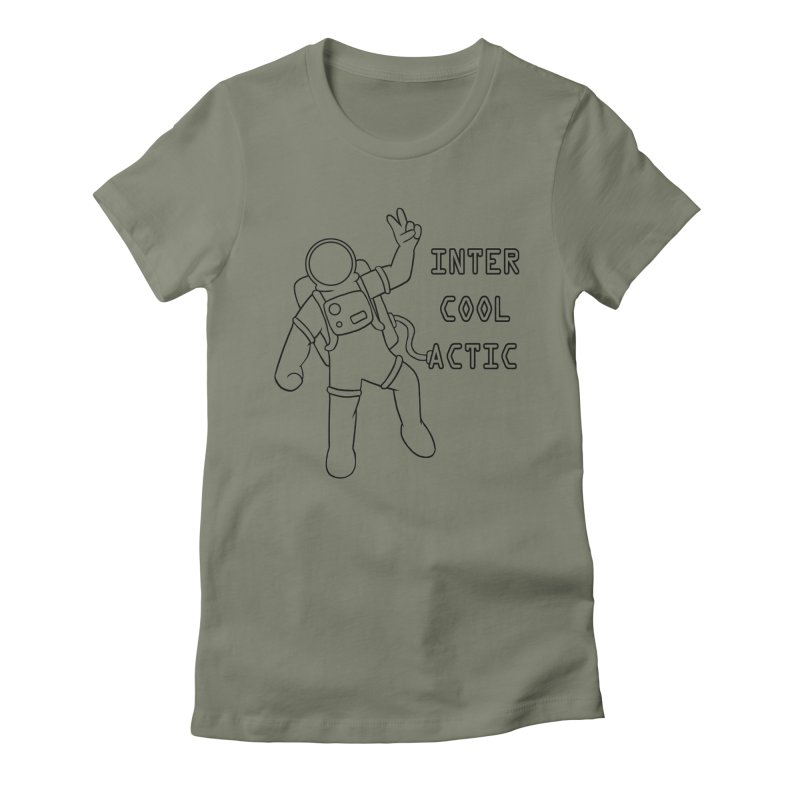 Inter-Cool-Actic - Black - Text Women's Fitted T-Shirt by Rachel Yelding   enchantedviolin