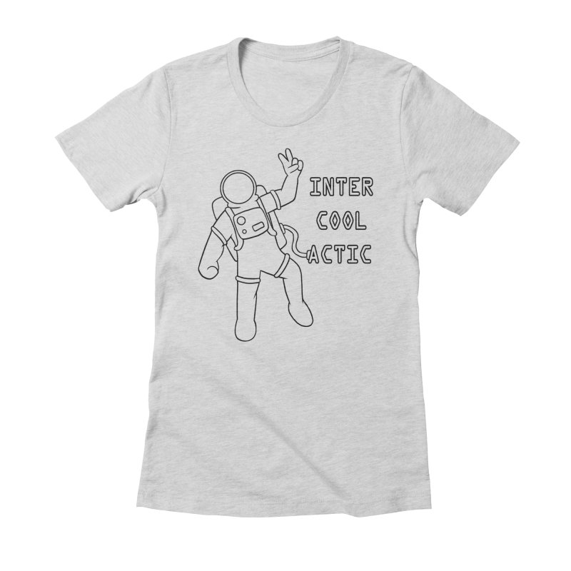 Inter-Cool-Actic - Black - Text Women's Fitted T-Shirt by Rachel Yelding | enchantedviolin