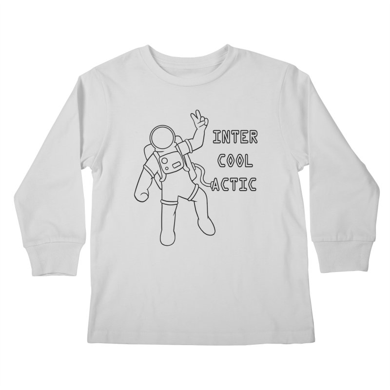 Inter-Cool-Actic - Black - Text Kids Longsleeve T-Shirt by Rachel Yelding | enchantedviolin