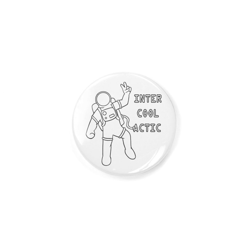 Inter-Cool-Actic - Black - Text Accessories Button by Rachel Yelding | enchantedviolin