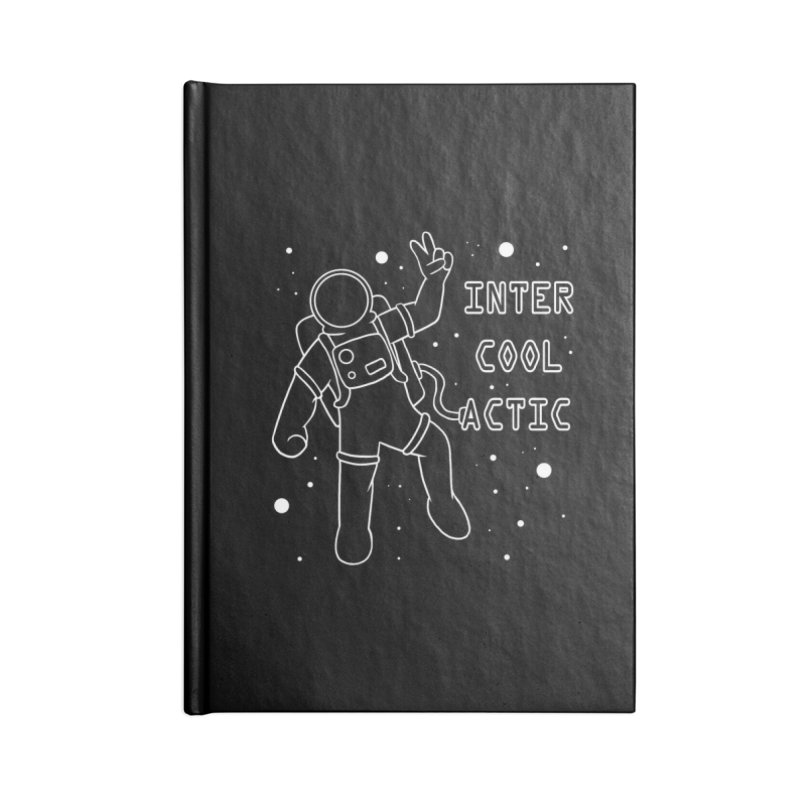 Inter-Cool-Actic - White - Text Accessories Blank Journal Notebook by Rachel Yelding | enchantedviolin