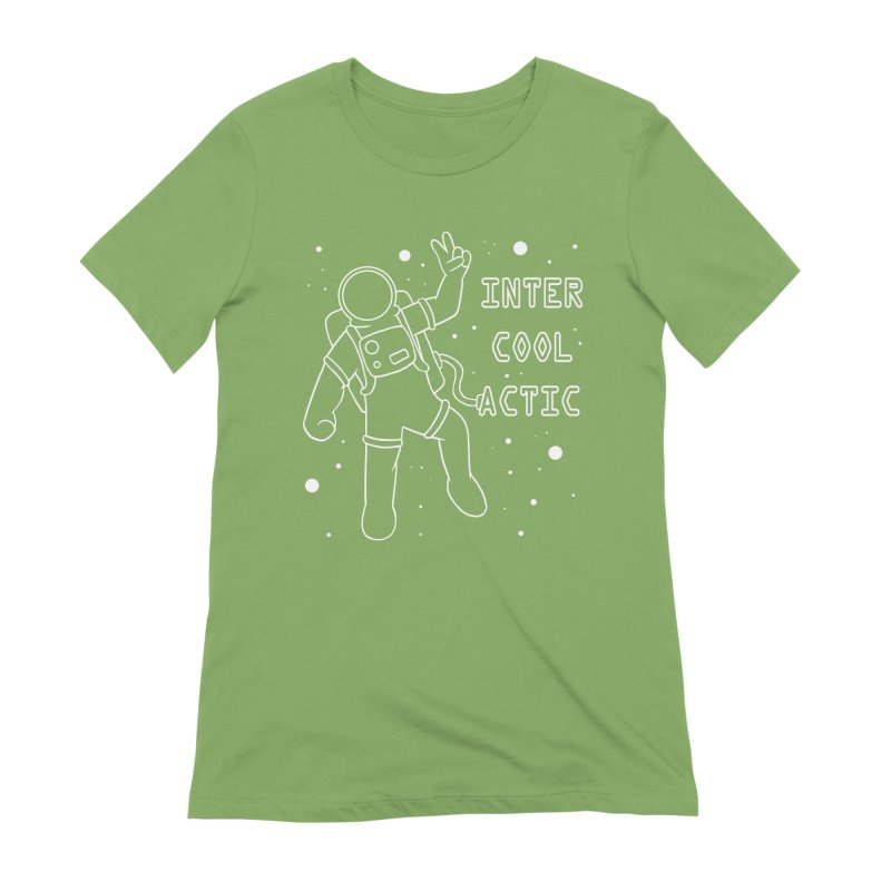Inter-Cool-Actic - White - Text Women's Extra Soft T-Shirt by Rachel Yelding | enchantedviolin