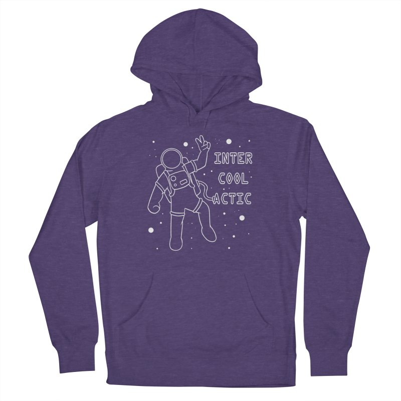 Inter-Cool-Actic - White - Text Women's French Terry Pullover Hoody by Rachel Yelding | enchantedviolin