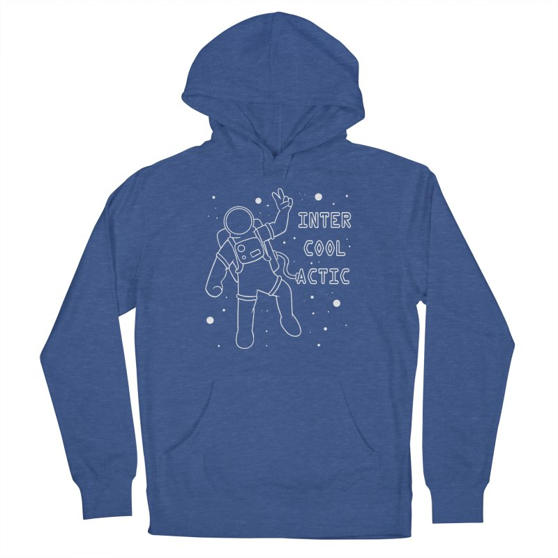 Inter-Cool-Actic - White - Text Men's French Terry Pullover Hoody by Rachel Yelding | enchantedviolin