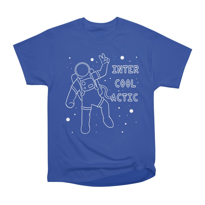 Inter-Cool-Actic - White - Text Women's Heavyweight Unisex T-Shirt by Rachel Yelding   enchantedviolin