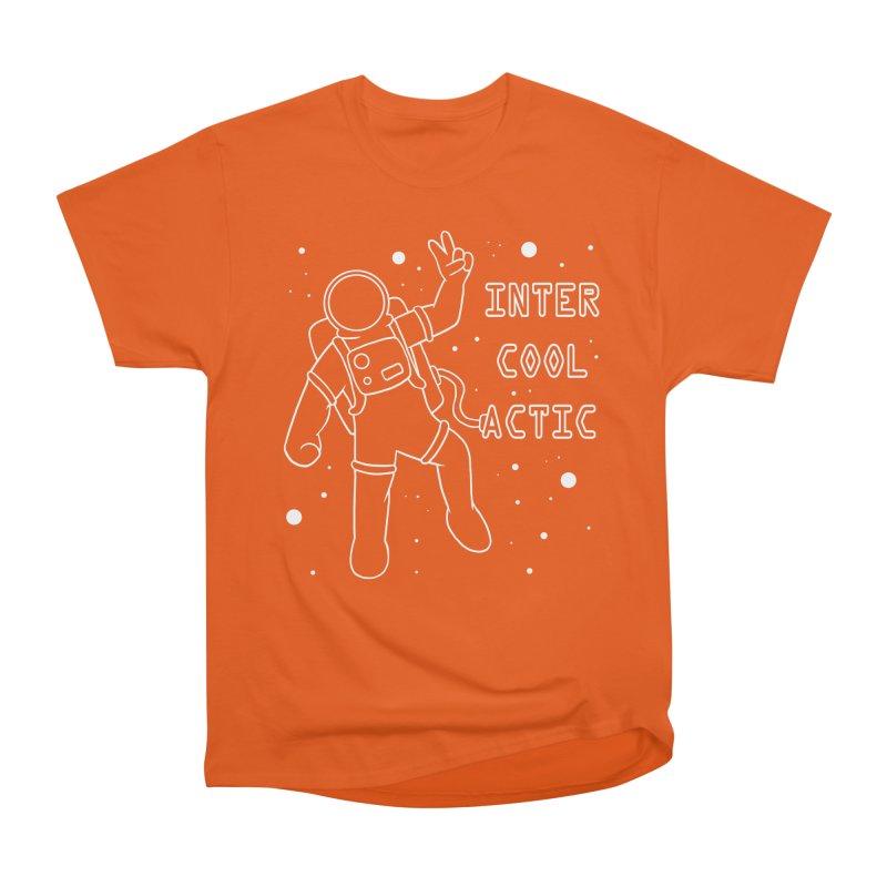 Inter-Cool-Actic - White - Text Men's Classic T-Shirt by Rachel Yelding | enchantedviolin