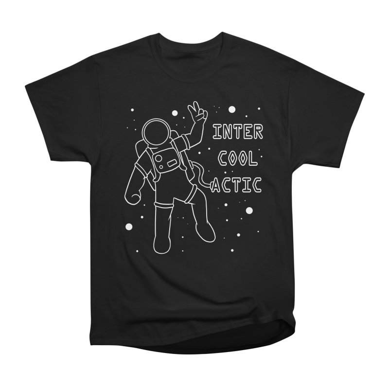 Inter-Cool-Actic - White - Text Women's Heavyweight Unisex T-Shirt by Rachel Yelding | enchantedviolin