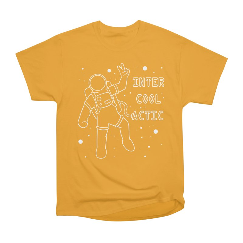 Inter-Cool-Actic - White - Text Men's Heavyweight T-Shirt by Rachel Yelding | enchantedviolin