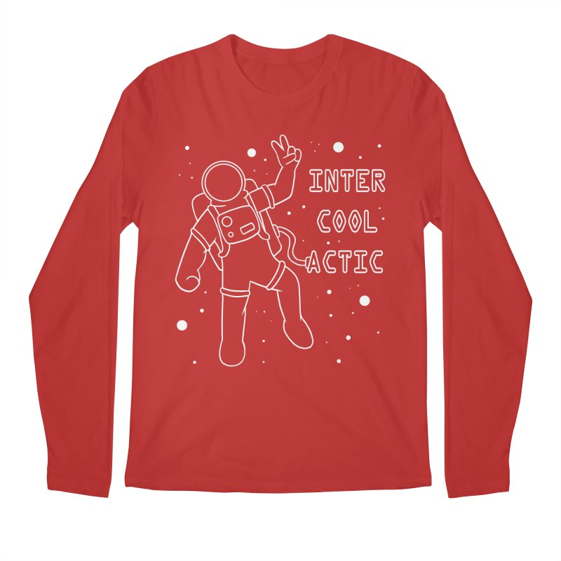 Inter-Cool-Actic - White - Text Men's Regular Longsleeve T-Shirt by Rachel Yelding | enchantedviolin