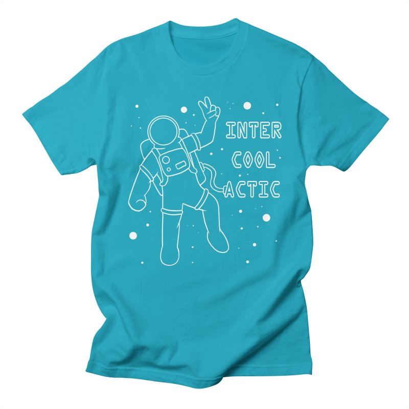 Inter-Cool-Actic - White - Text Men's Regular T-Shirt by Rachel Yelding | enchantedviolin