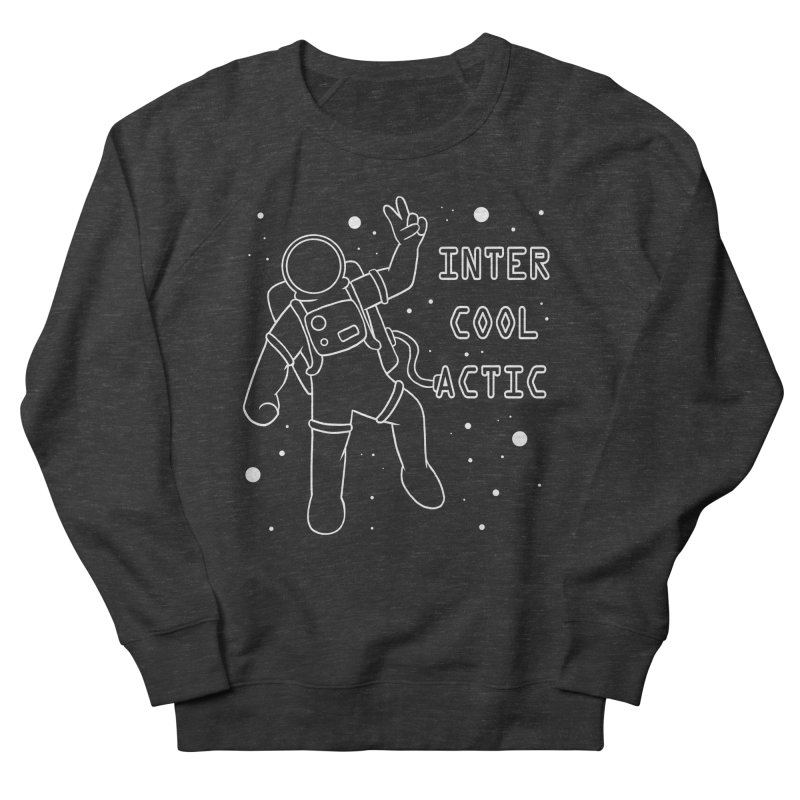 Inter-Cool-Actic - White - Text Men's French Terry Sweatshirt by Rachel Yelding | enchantedviolin