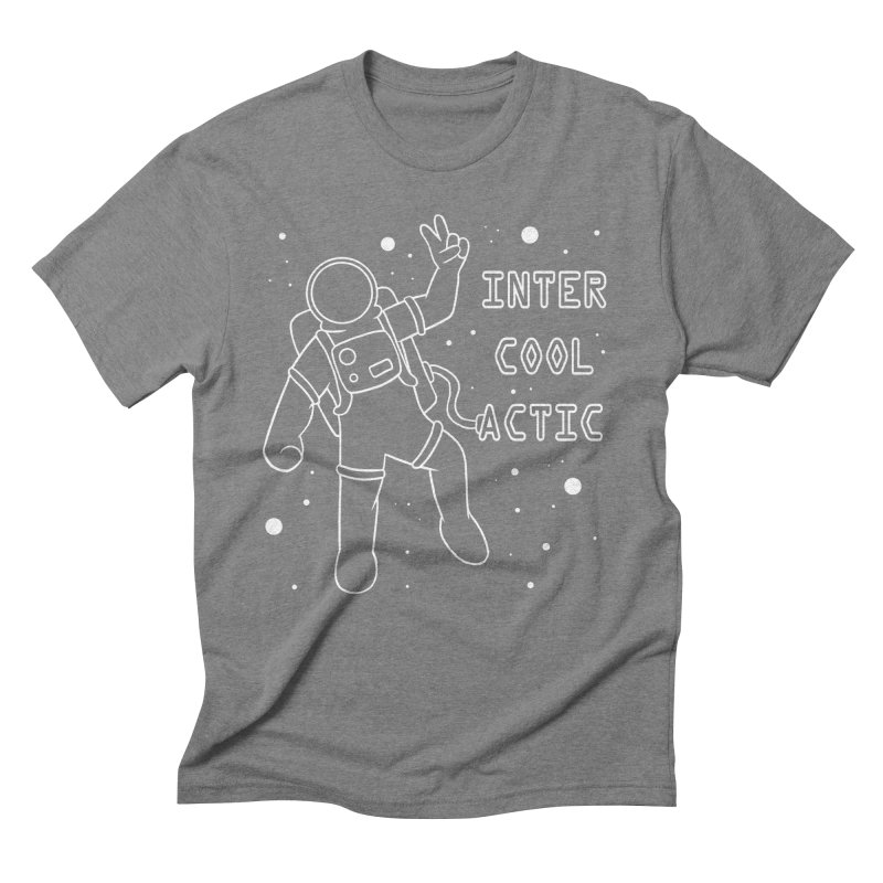 Inter-Cool-Actic - White - Text Men's Triblend T-Shirt by Rachel Yelding | enchantedviolin