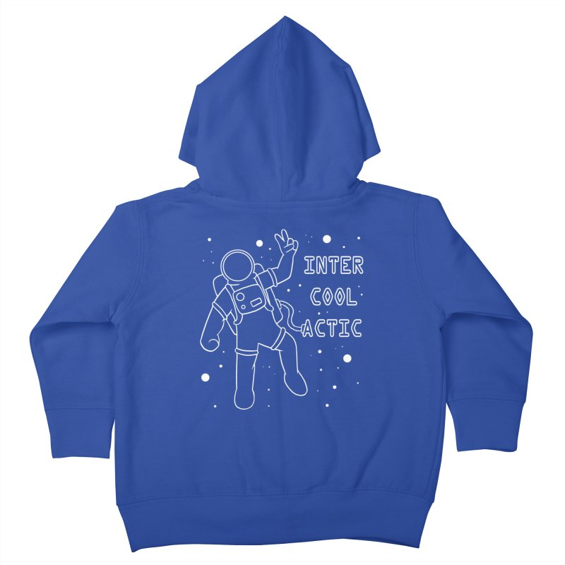 Inter-Cool-Actic - White - Text Kids Toddler Zip-Up Hoody by Rachel Yelding | enchantedviolin