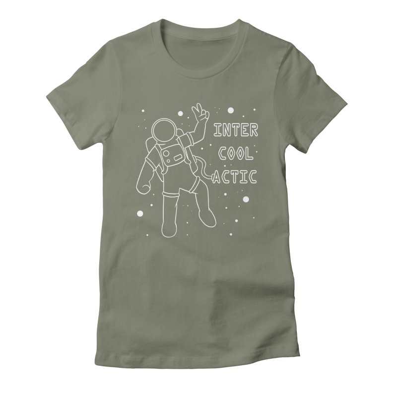 Inter-Cool-Actic - White - Text Women's Fitted T-Shirt by Rachel Yelding | enchantedviolin