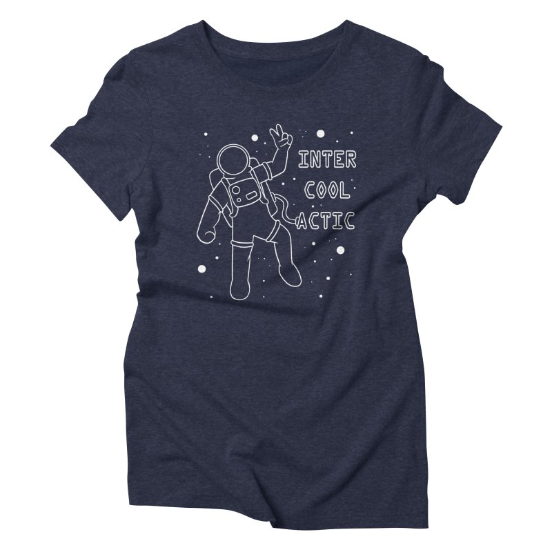 Inter-Cool-Actic - White - Text Women's T-Shirt by Rachel Yelding | enchantedviolin
