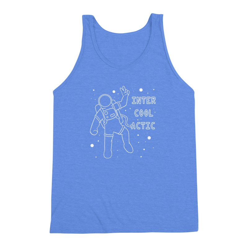 Inter-Cool-Actic - White - Text Men's Triblend Tank by Rachel Yelding   enchantedviolin