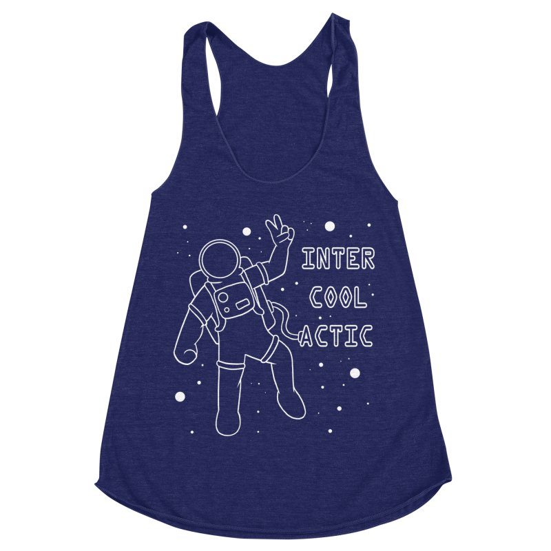 Inter-Cool-Actic - White - Text Women's Racerback Triblend Tank by Rachel Yelding | enchantedviolin