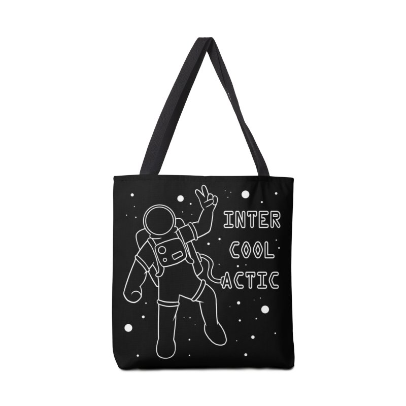 Inter-Cool-Actic - White - Text Accessories Tote Bag Bag by Rachel Yelding | enchantedviolin