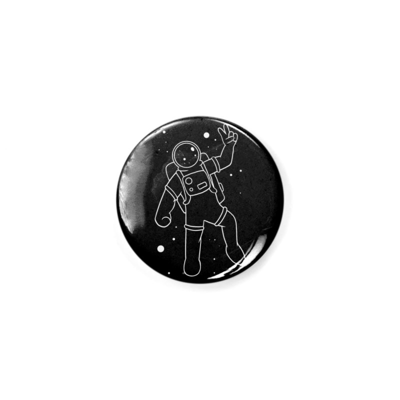 Inter-Cool-Actic - White - No Text Accessories Button by Rachel Yelding | enchantedviolin