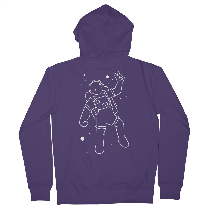 Inter-Cool-Actic - White - No Text Women's French Terry Zip-Up Hoody by Rachel Yelding | enchantedviolin