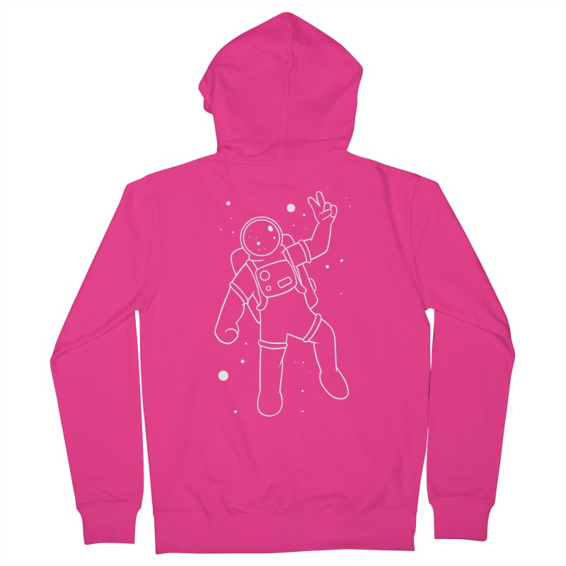 Inter-Cool-Actic - White - No Text Men's French Terry Zip-Up Hoody by Rachel Yelding | enchantedviolin