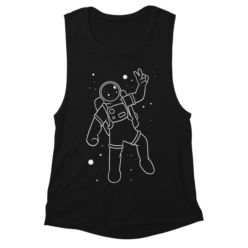 Inter-Cool-Actic - White - No Text Women's Muscle Tank by Rachel Yelding | enchantedviolin