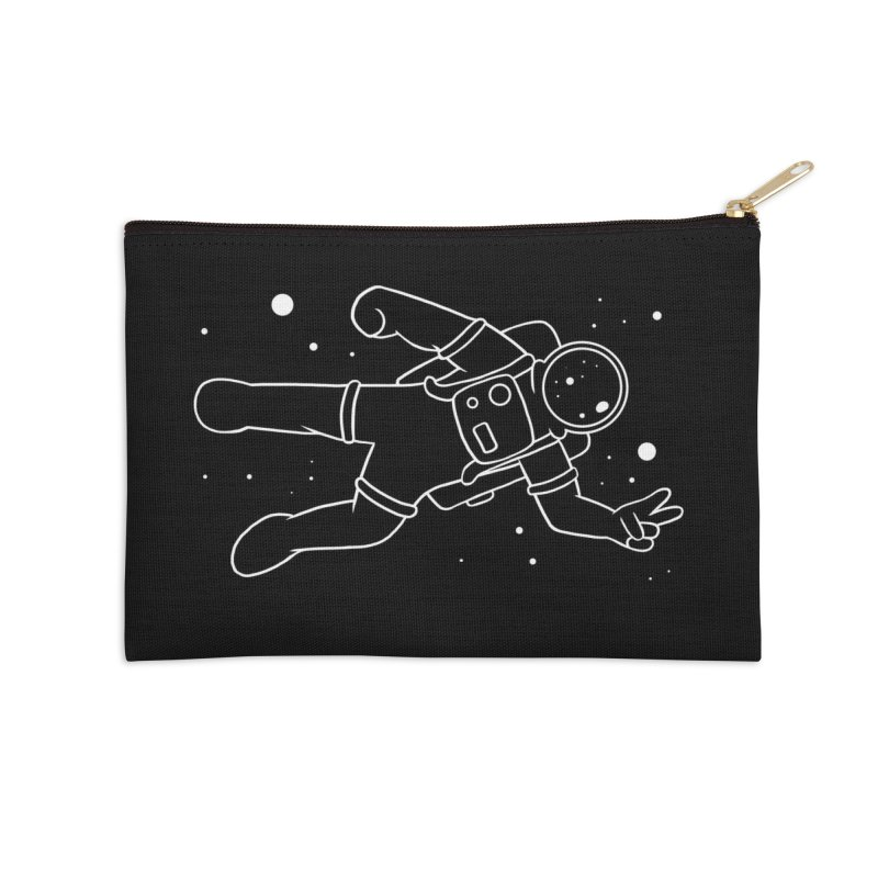 Inter-Cool-Actic - White - No Text Accessories Zip Pouch by Rachel Yelding | enchantedviolin