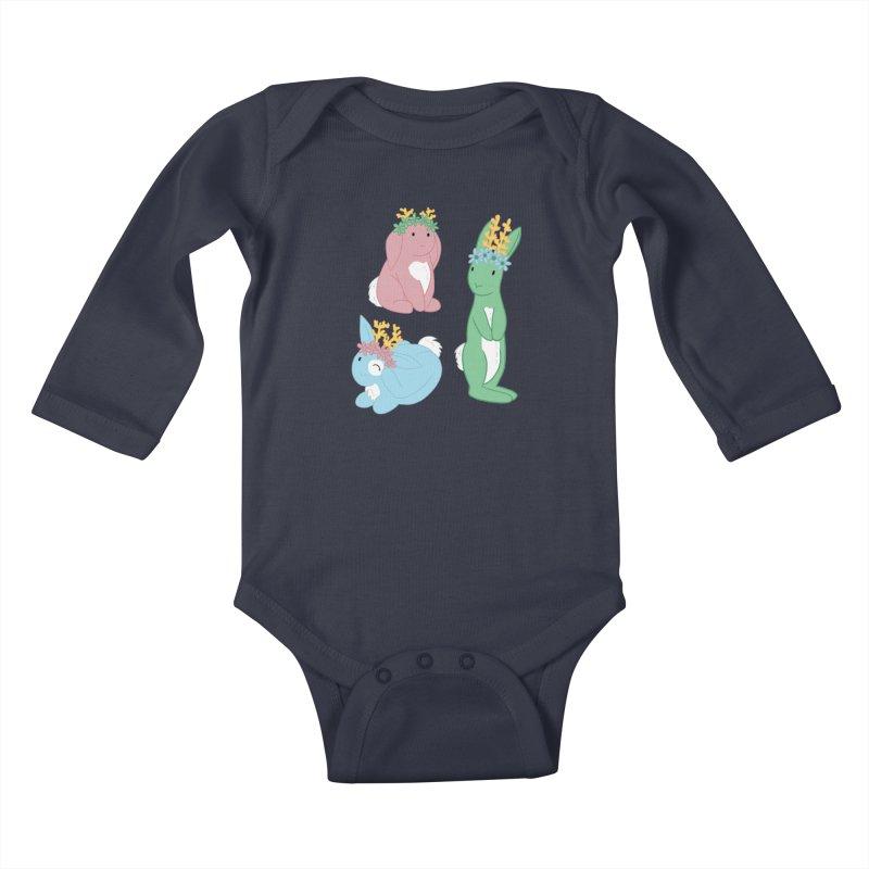 Spring Festival Jackalopes Kids Baby Longsleeve Bodysuit by Rachel Yelding   enchantedviolin