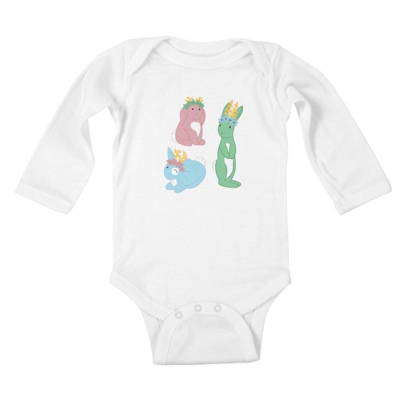 Spring Festival Jackalopes Kids Baby Longsleeve Bodysuit by Rachel Yelding | enchantedviolin