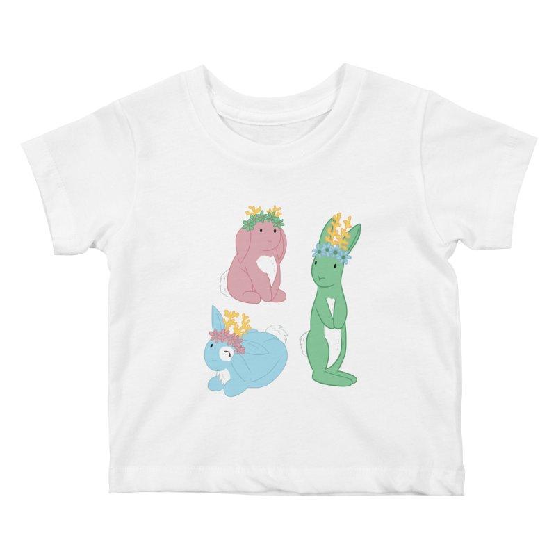 Spring Festival Jackalopes Kids Baby T-Shirt by Rachel Yelding | enchantedviolin