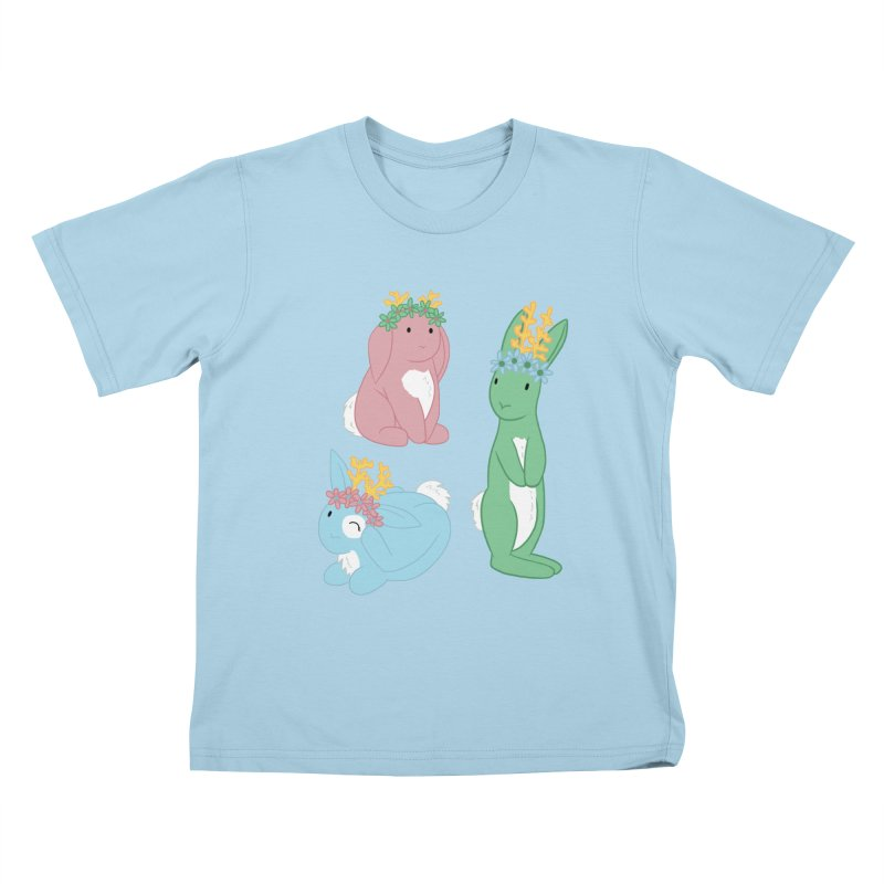 Spring Festival Jackalopes Kids T-Shirt by Rachel Yelding | enchantedviolin