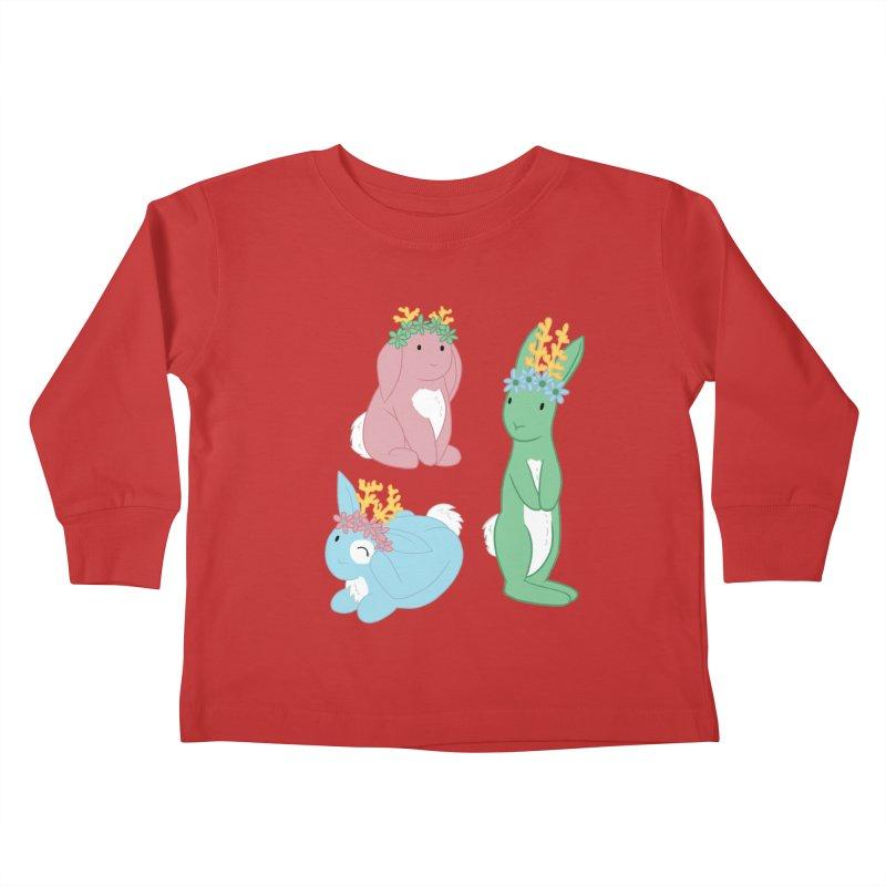 Spring Festival Jackalopes Kids Toddler Longsleeve T-Shirt by Rachel Yelding | enchantedviolin