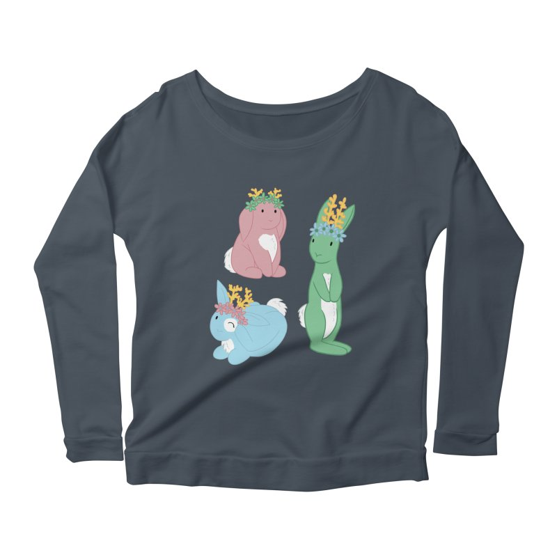 Spring Festival Jackalopes Women's Scoop Neck Longsleeve T-Shirt by Rachel Yelding | enchantedviolin