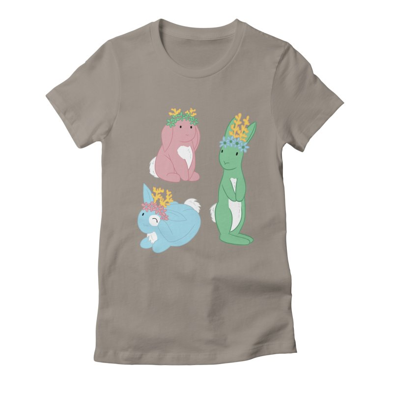 Spring Festival Jackalopes Women's Fitted T-Shirt by Rachel Yelding | enchantedviolin