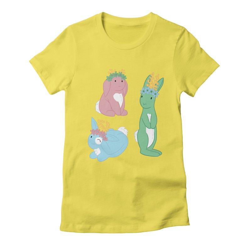 Spring Festival Jackalopes Women's Fitted T-Shirt by Rachel Yelding | enchantedviolin