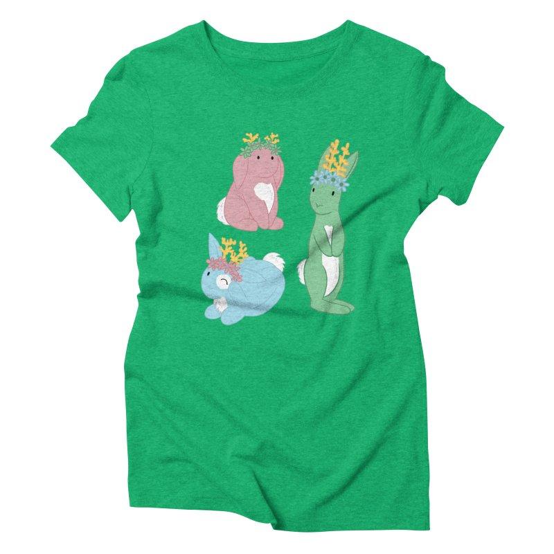 Spring Festival Jackalopes Women's Triblend T-Shirt by Rachel Yelding | enchantedviolin
