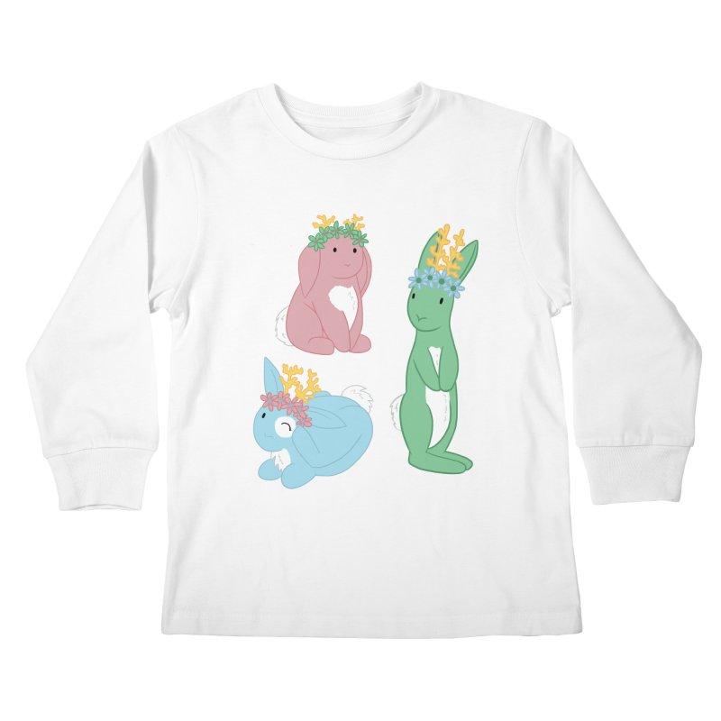 Spring Festival Jackalopes Kids Longsleeve T-Shirt by Rachel Yelding | enchantedviolin
