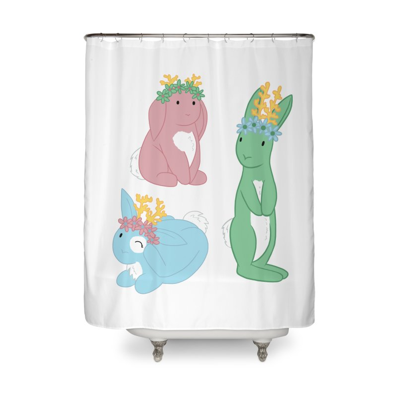 Spring Festival Jackalopes Home Shower Curtain by Rachel Yelding | enchantedviolin