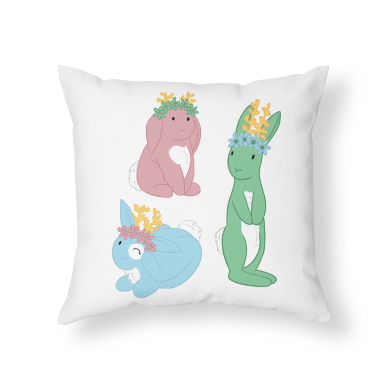 Spring Festival Jackalopes Home Throw Pillow by Rachel Yelding   enchantedviolin