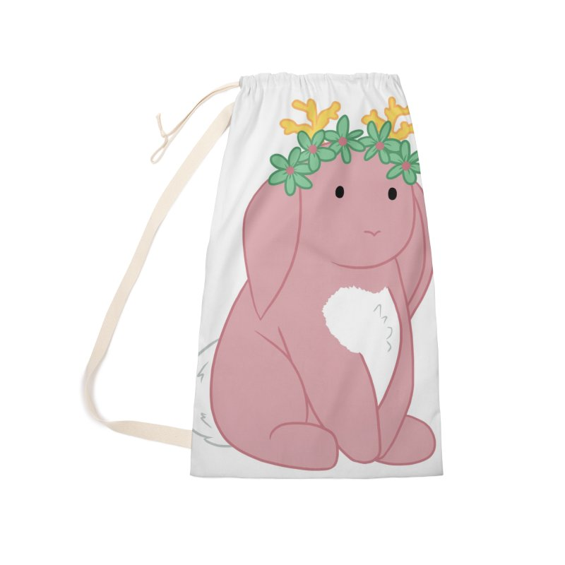 Pink Spring Festival Jackalope Accessories Laundry Bag Bag by Rachel Yelding | enchantedviolin