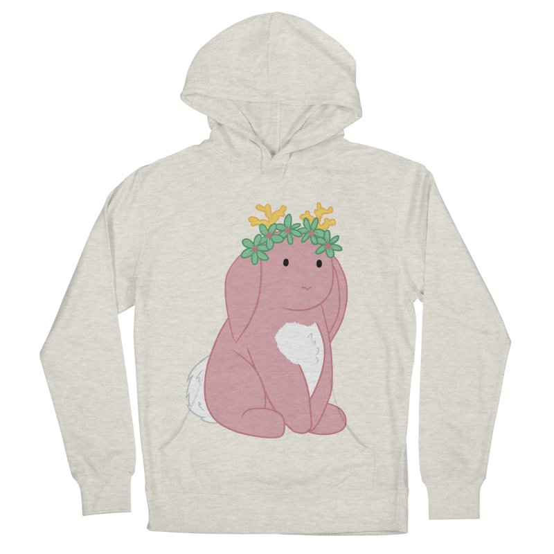 Pink Spring Festival Jackalope Men's French Terry Pullover Hoody by Rachel Yelding | enchantedviolin