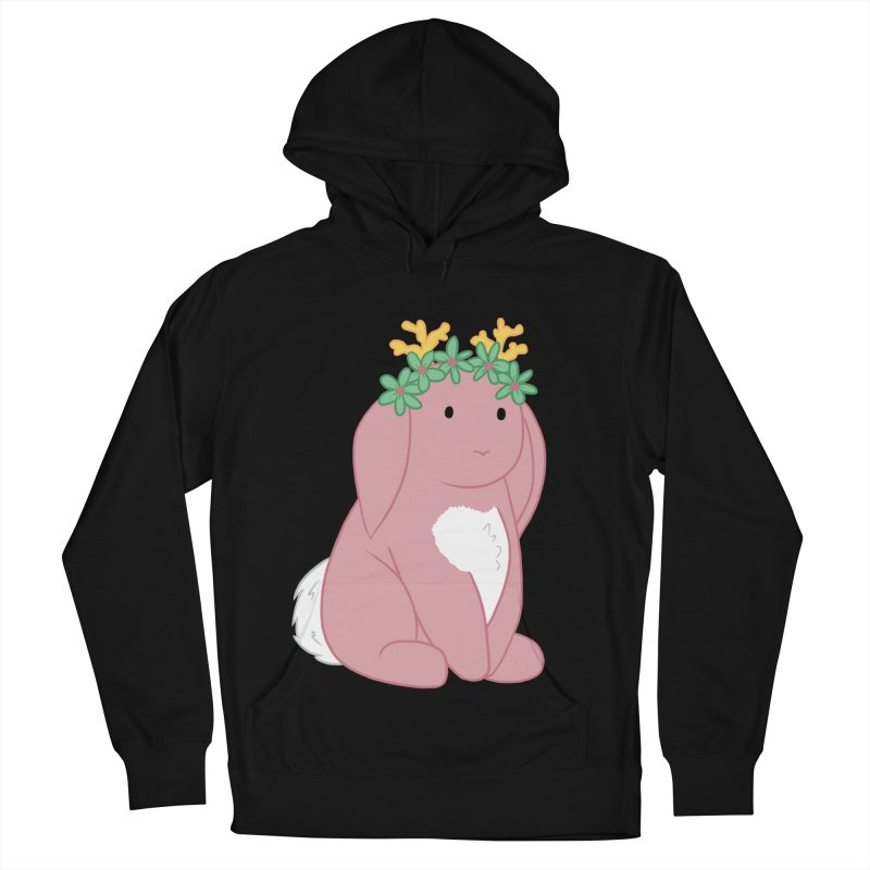 Pink Spring Festival Jackalope Men's French Terry Pullover Hoody by Rachel Yelding   enchantedviolin
