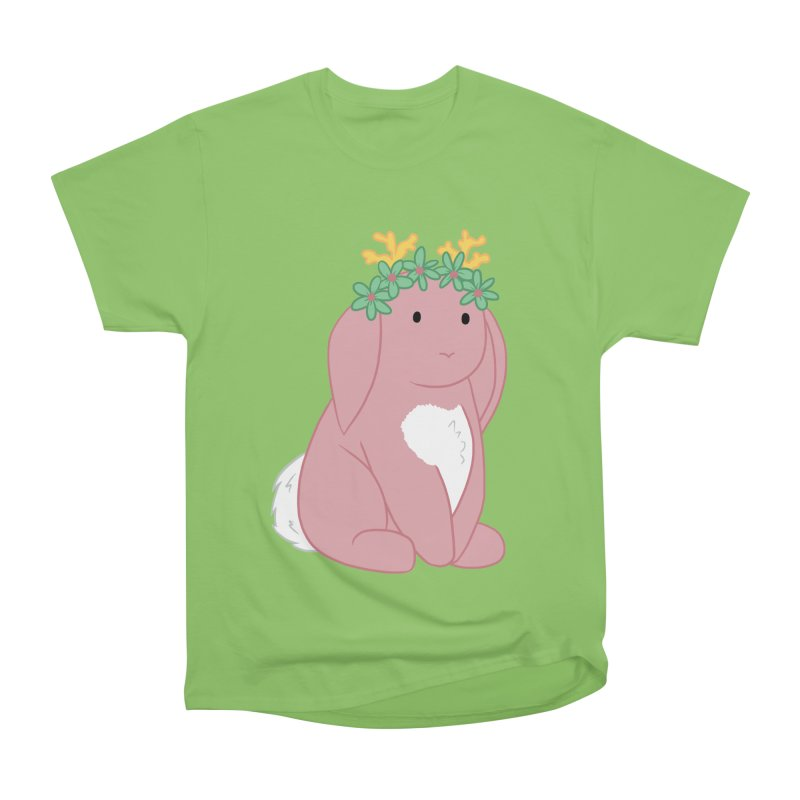 Pink Spring Festival Jackalope Men's Heavyweight T-Shirt by Rachel Yelding | enchantedviolin