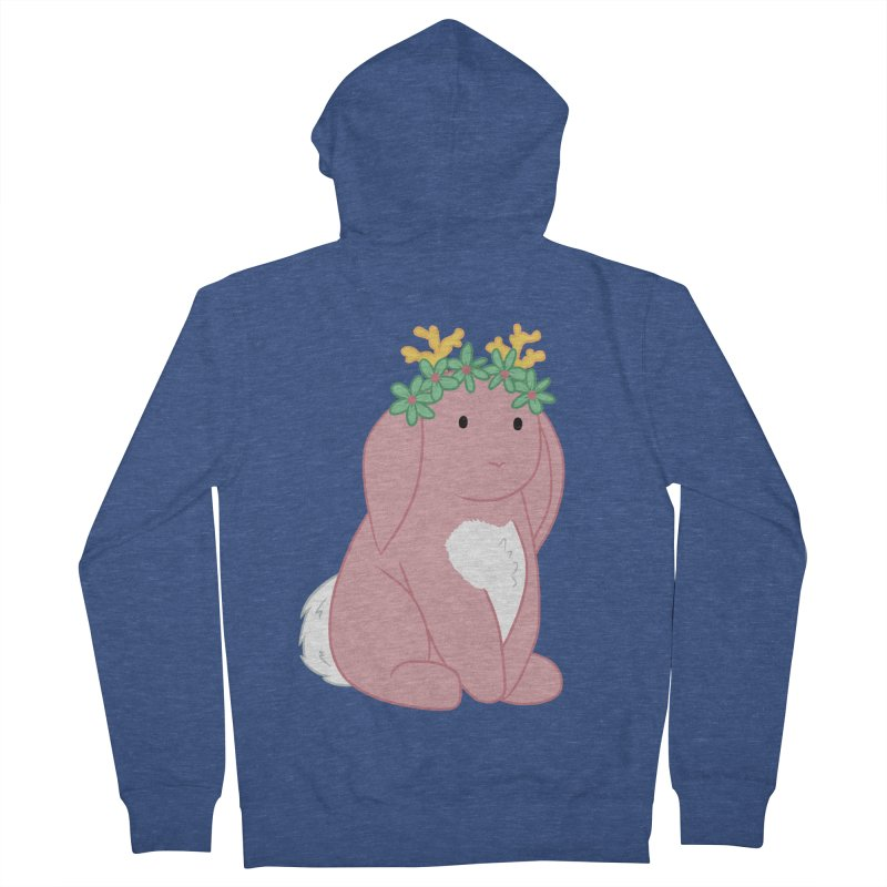 Pink Spring Festival Jackalope Women's French Terry Zip-Up Hoody by Rachel Yelding | enchantedviolin